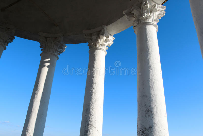 Colunas macro do Corinthian da foto fotos de stock royalty free