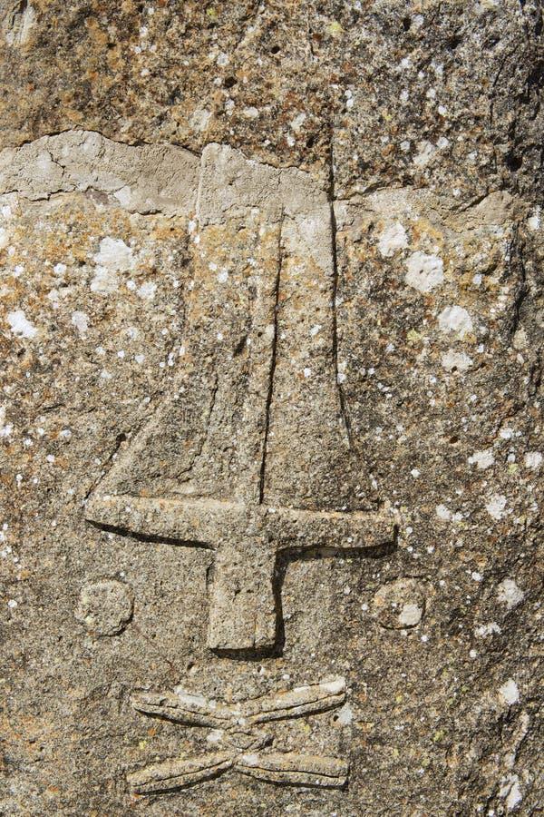 Colunas megalíticas misteriosas de Tiya, local do patrimônio mundial do UNESCO, Etiópia imagens de stock