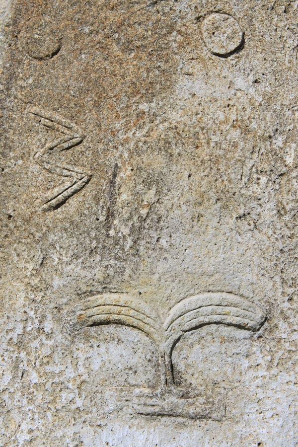 Colunas megalíticas misteriosas de Tiya, local do patrimônio mundial do UNESCO, Etiópia foto de stock