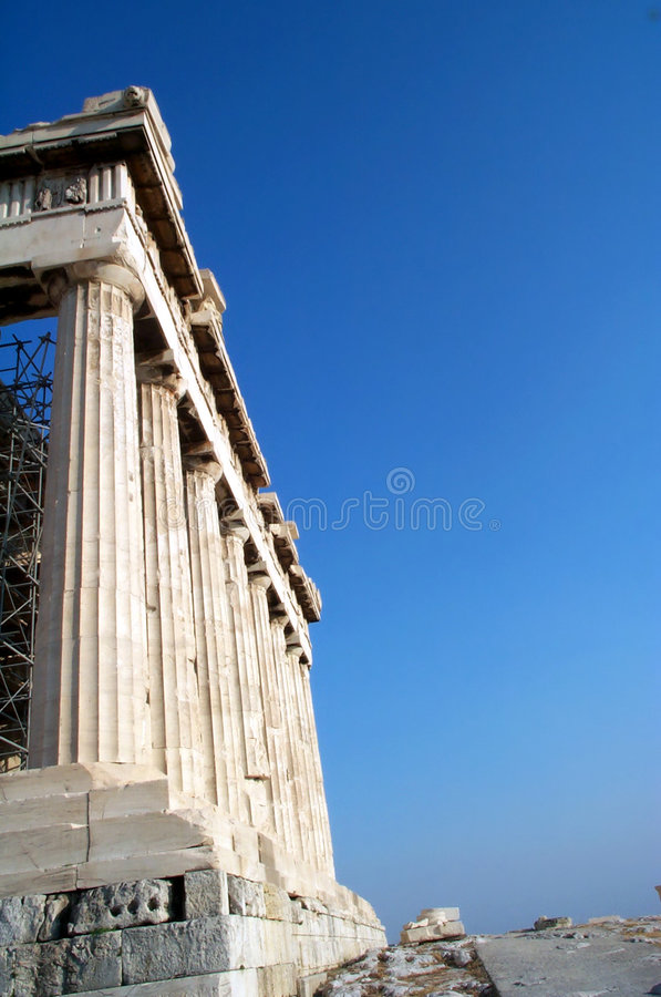 Colunas no Parthenon foto de stock royalty free