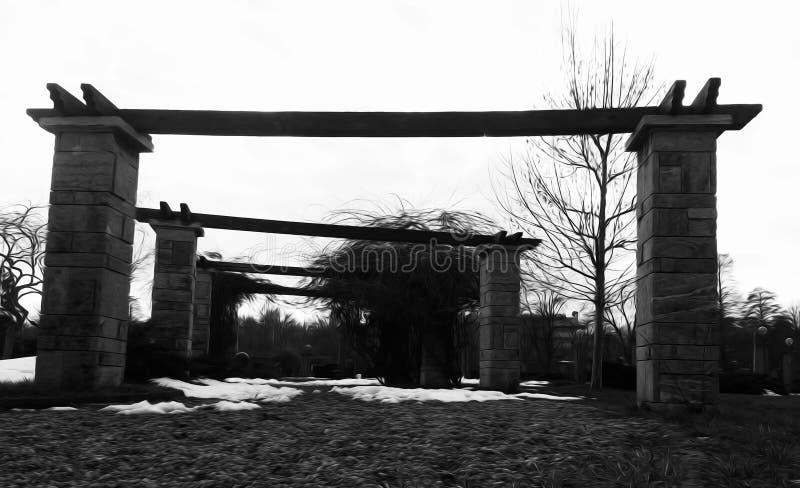 Colunas preto e branco imagem de stock