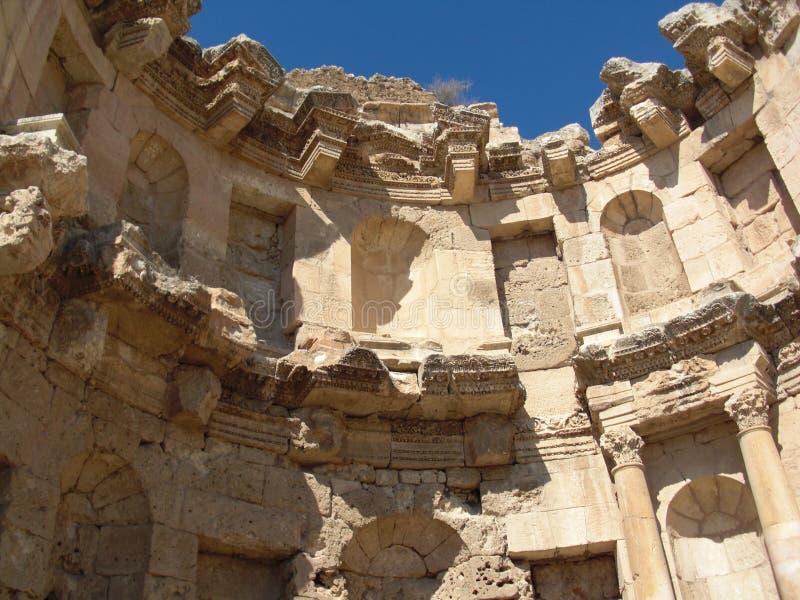 Colunas Roman City Sand antigo de Jerash fotos de stock
