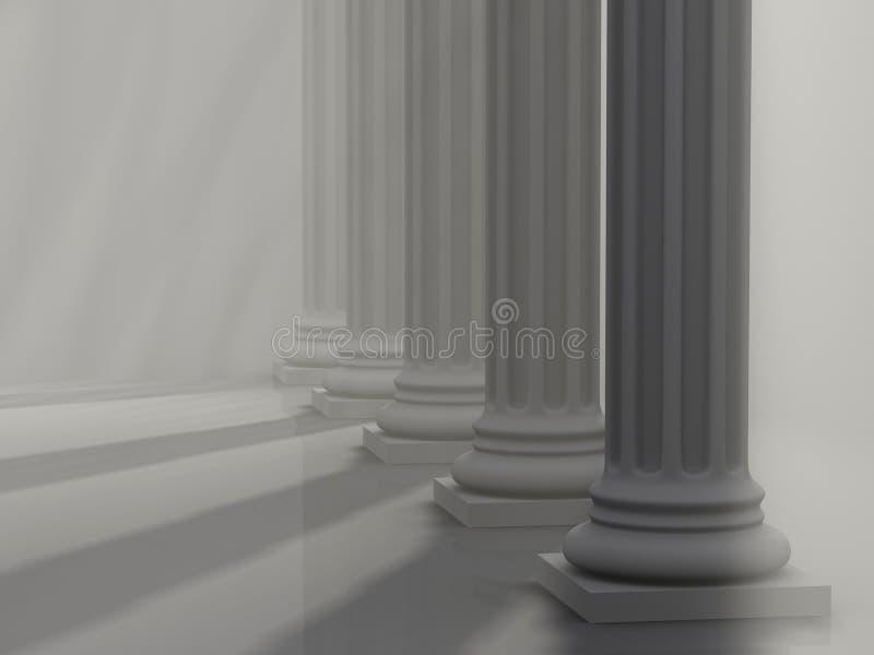 Colunas romanas 1 ilustração stock