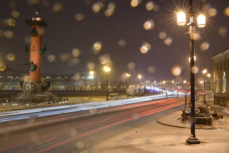 Colunas Rostral, St Petersburg imagem de stock royalty free