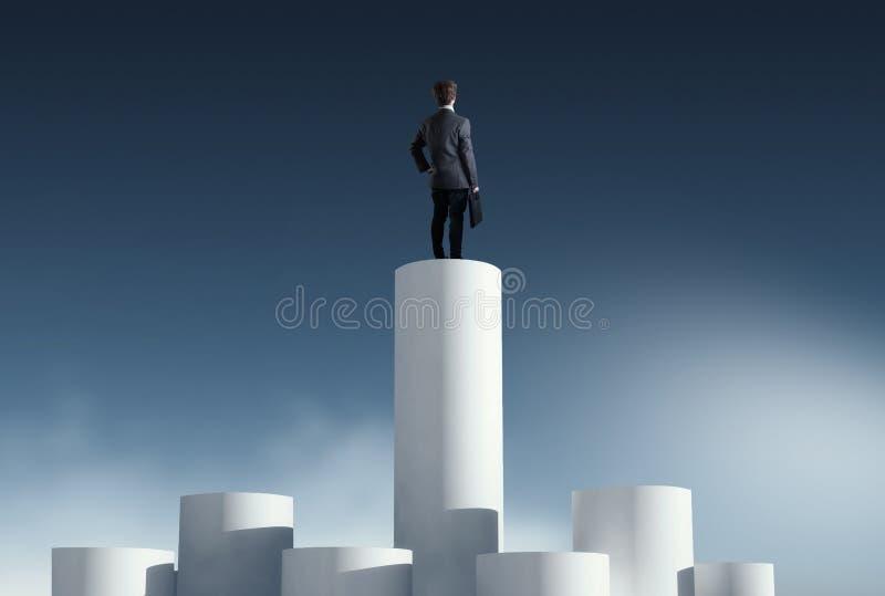 Colunas superiores da série foto de stock royalty free