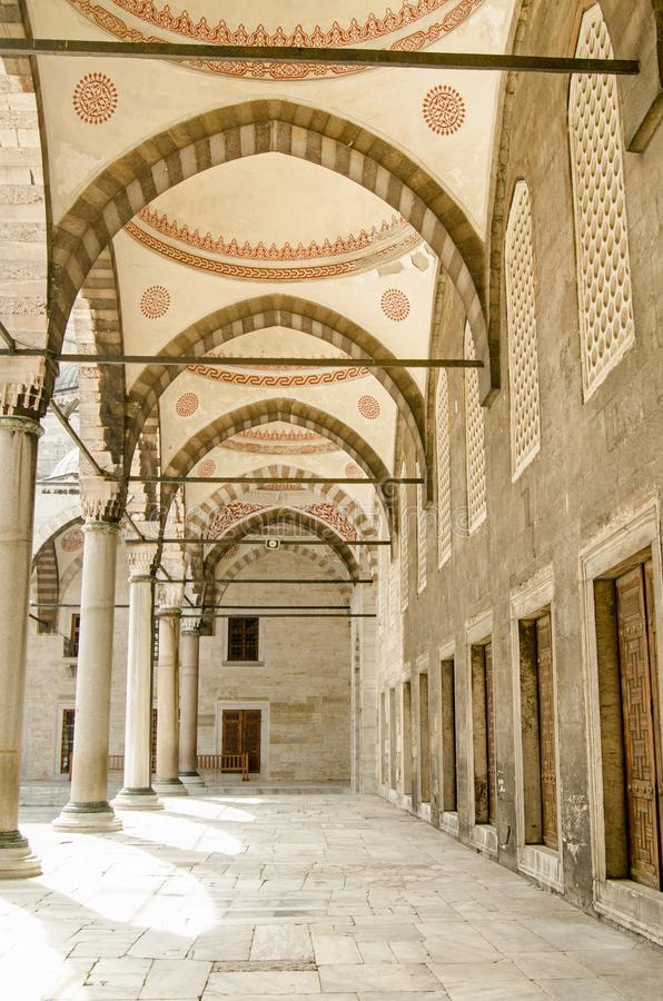 Colunata azul da mesquita, Istambul foto de stock royalty free