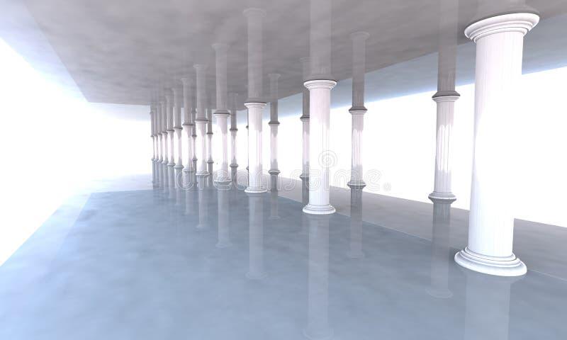 Colunata clássica com arcadas e colunas ilustração royalty free