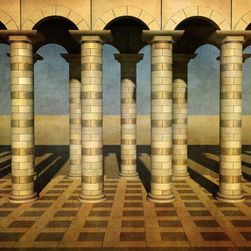 Colunata do ouro ilustração do vetor