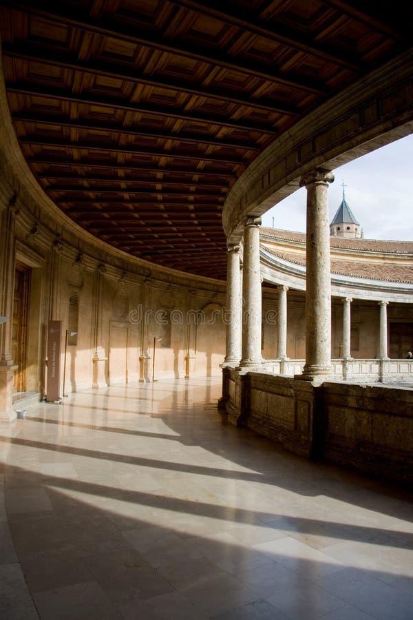 Colunata do palácio de Carlos V imagem de stock royalty free