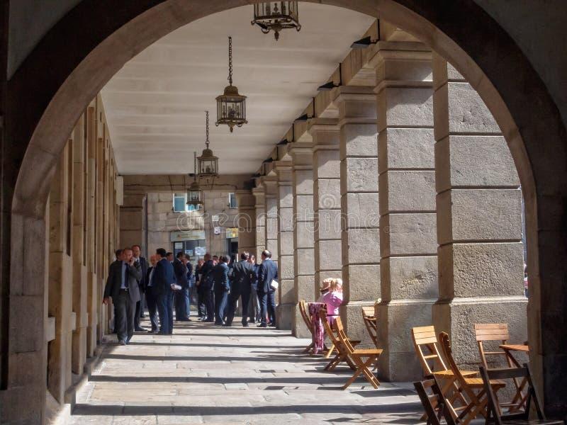 Colunata - Santiago de Compostela foto de stock royalty free