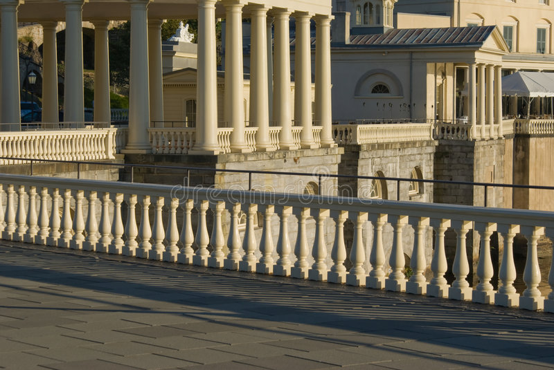 Colunms and Pillars. Architecture details of many Pillars stock photo