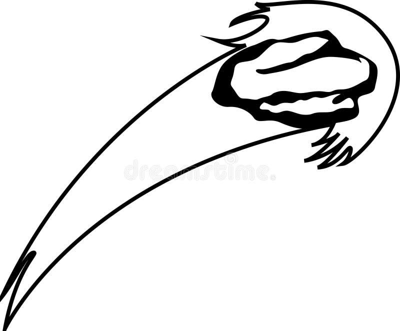 Comète illustration de vecteur