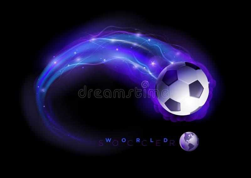 Comète de ballon de football illustration stock