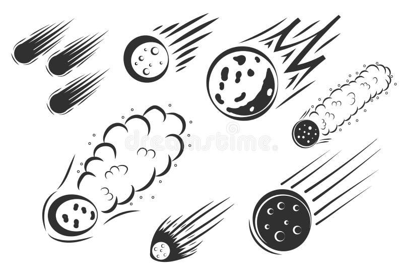 Comète de corps céleste illustration stock