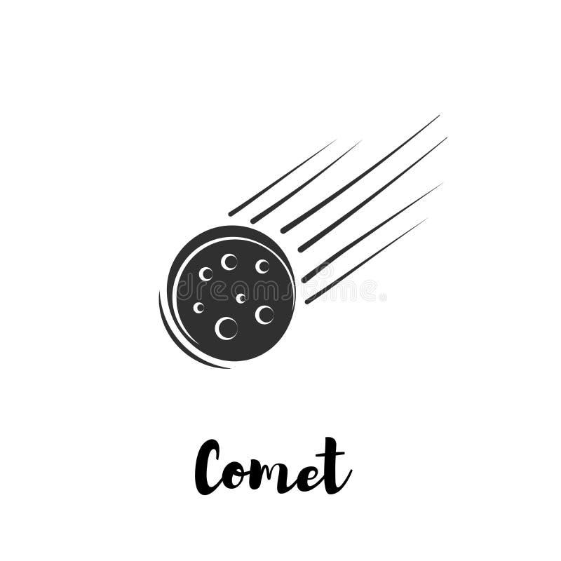 Comète de corps céleste illustration de vecteur