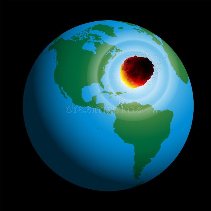 Comète de la terre illustration de vecteur