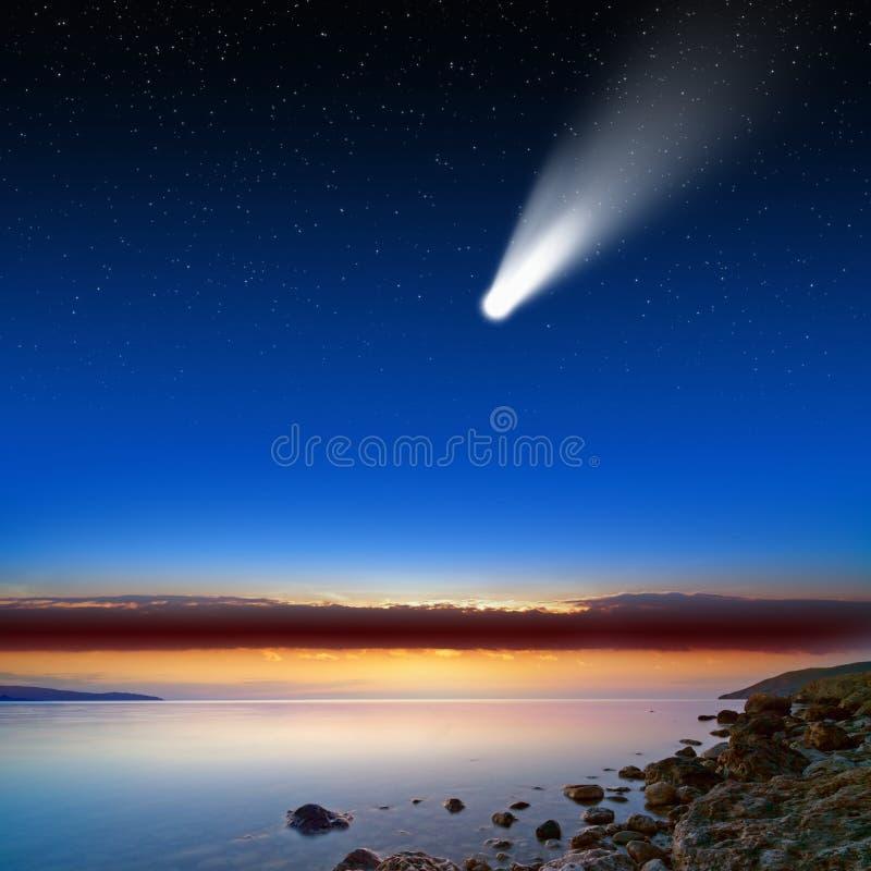 Comète en ciel photo libre de droits