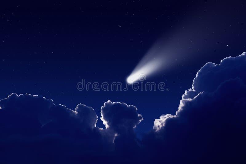 Comète en ciel photo stock