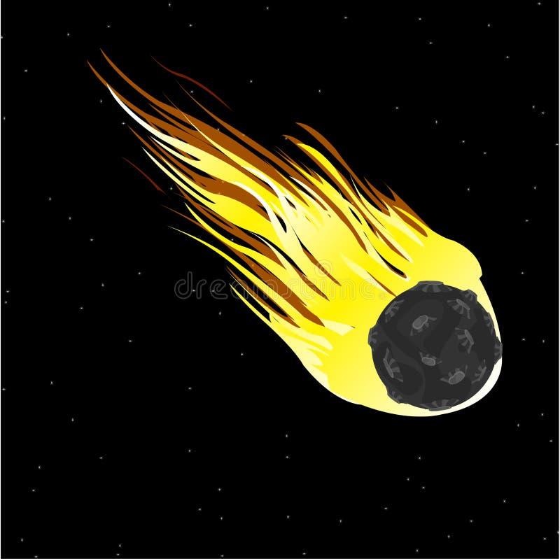 Comète en cosmos illustration stock