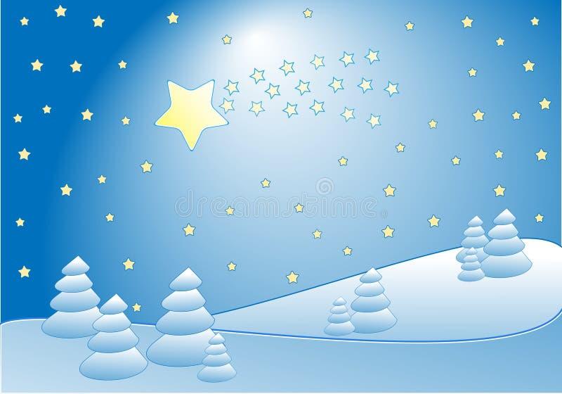 Comète en hiver illustration stock