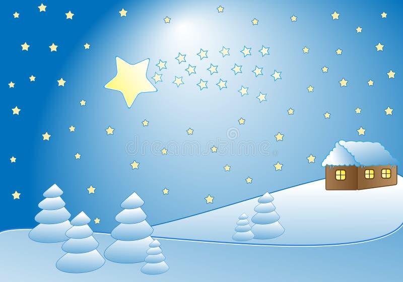 Comète et hutte illustration stock
