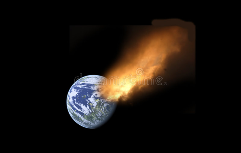 Comète et terre illustration libre de droits