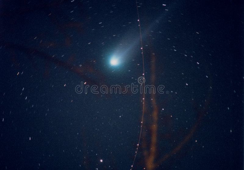 Comète Hyakutake Photo libre de droits