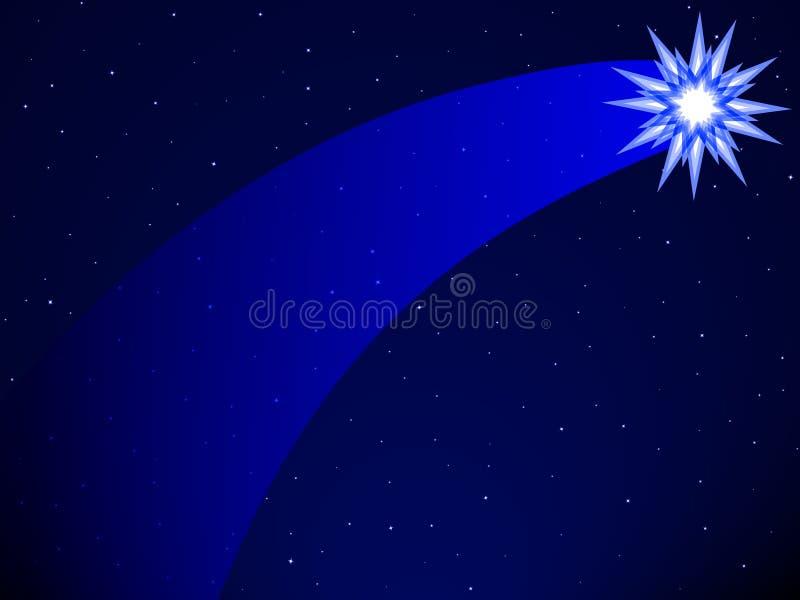 Comète sur le ciel étoilé illustration libre de droits
