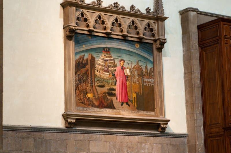 Comédie divine par Dante dans le Duomo images stock