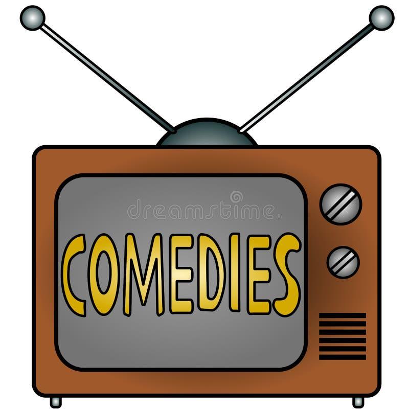 comédies TV illustration stock