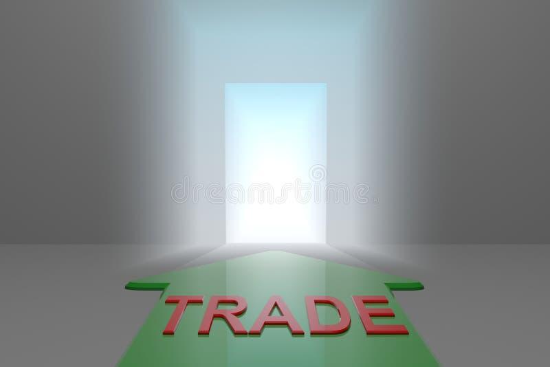 Comércio à porta aberta ilustração royalty free