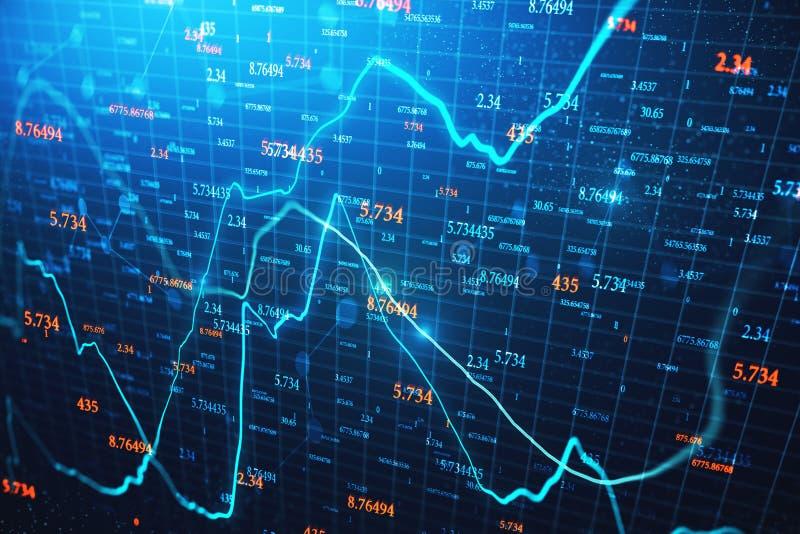 Com?rcio e papel de parede do stats ilustração stock