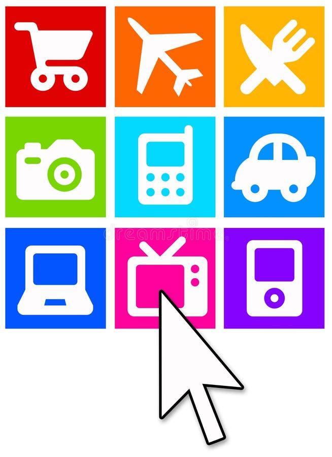 Comércio electrónico ilustração do vetor