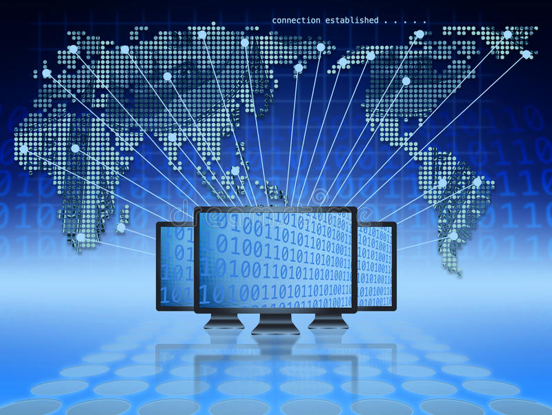 Comércio electrónico global ilustração stock