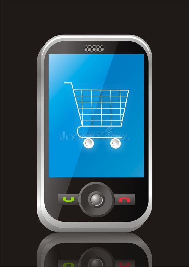 Comércio electrónico móvel ilustração do vetor