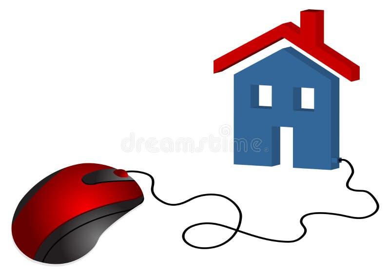 Comércio eletrônico dos bens imobiliários ilustração stock