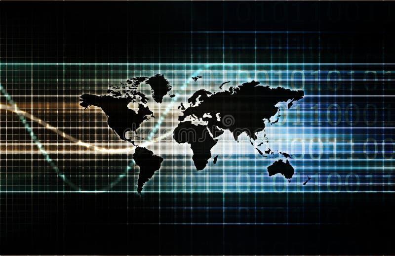 Comércio internacional ilustração stock