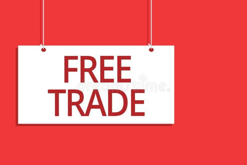 Comércio livre do texto da escrita da palavra Conceito do negócio para que a capacidade compre e vendam em seus próprios termos e ilustração do vetor