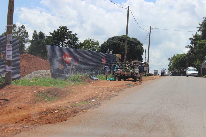 Comércio móvel do vegetal em Kampala imagem de stock royalty free
