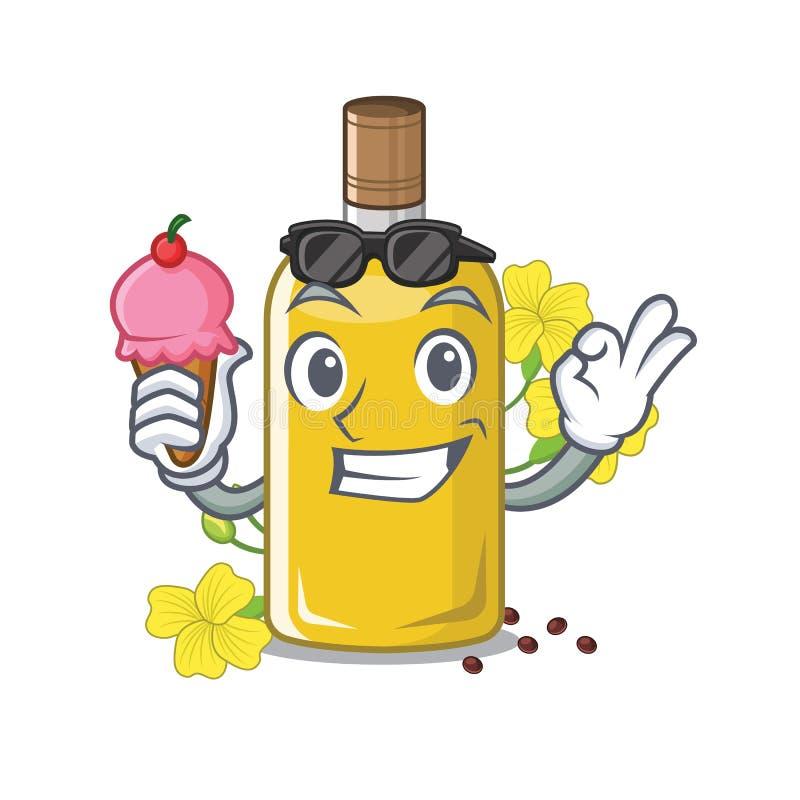 Com óleo do canola do gelado na forma da mascote ilustração royalty free