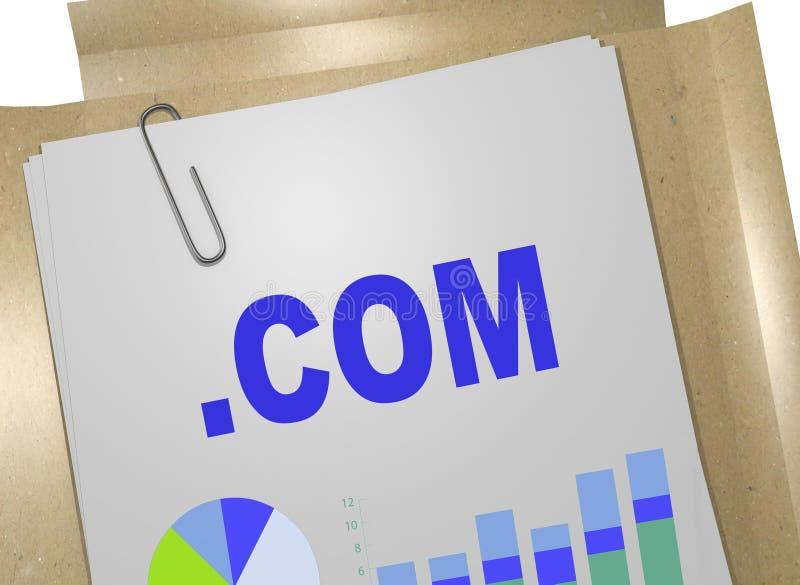 COM - Коммерчески концепция домена высшего уровня интернета бесплатная иллюстрация