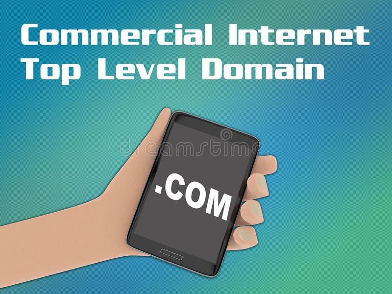 COM - концепция домена интернета иллюстрация вектора