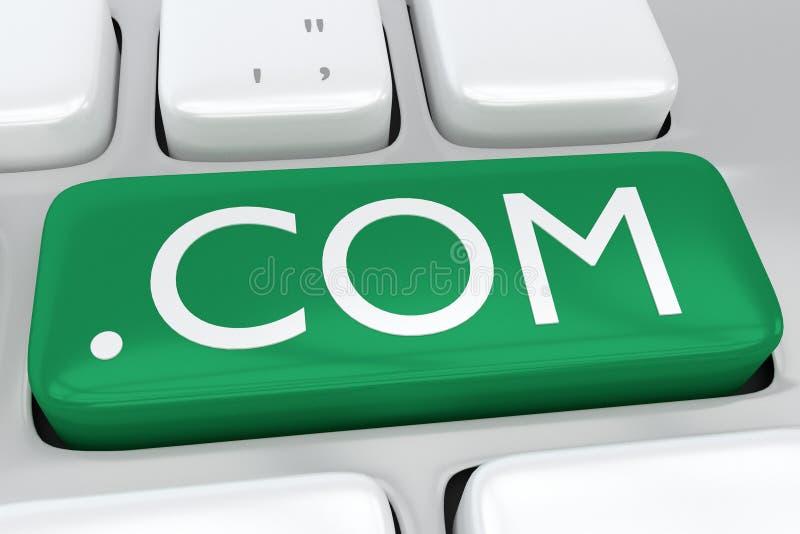 COM - концепция интернета бесплатная иллюстрация