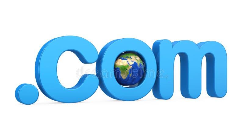 .com при изолированный глобус иллюстрация штока