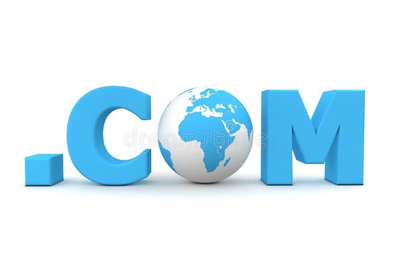 com ставит точки мир иллюстрация штока