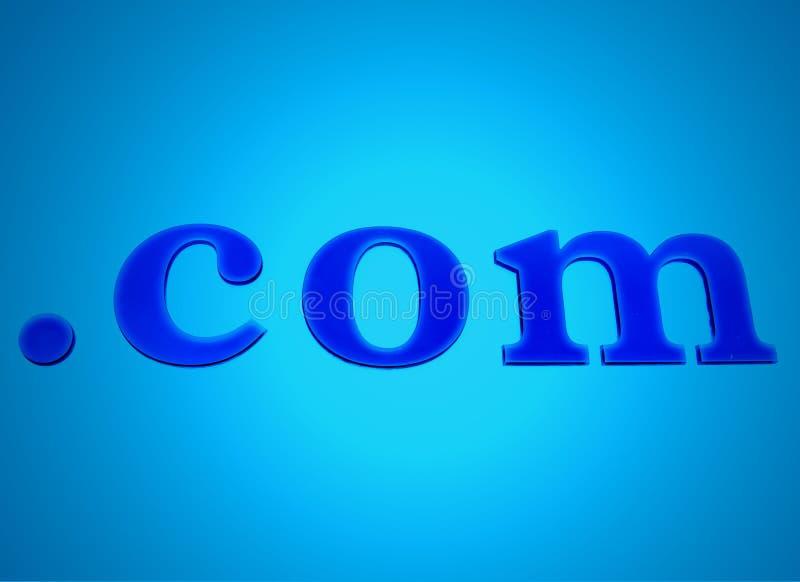 com błękitny znak rozjarzony neonowy obrazy royalty free