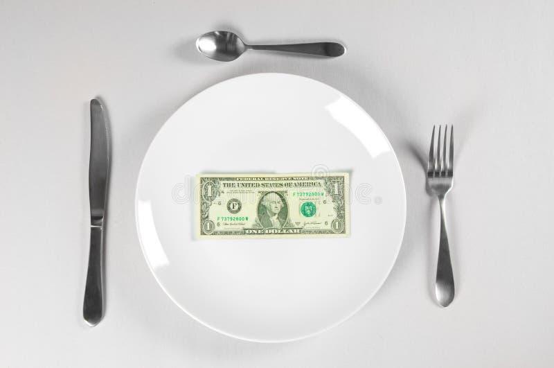 Com fome para o dinheiro imagens de stock