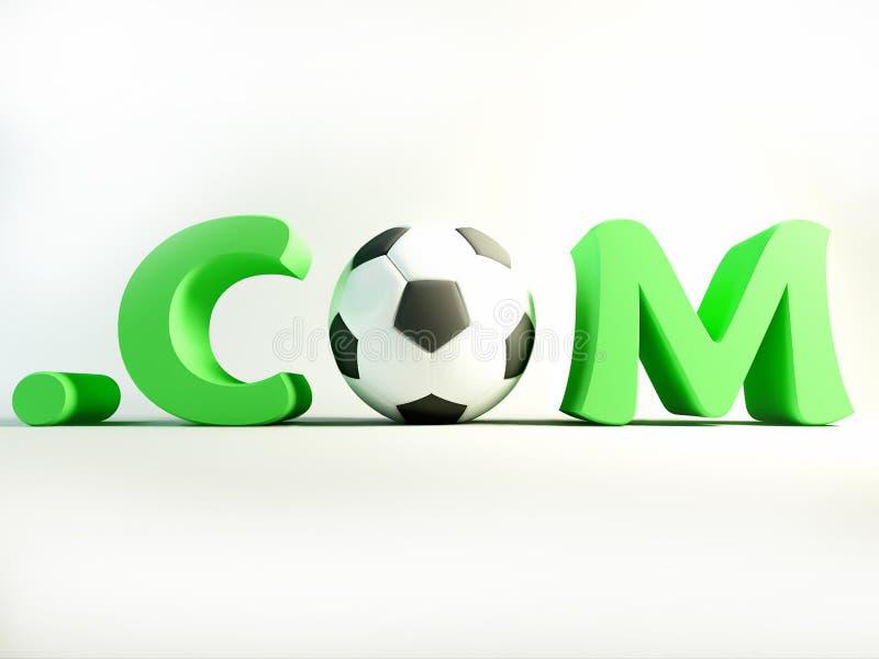 com-fotboll stock illustrationer