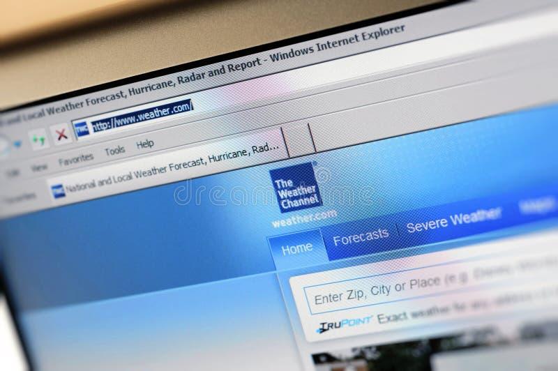 com internetów głównej strony pogoda obraz stock
