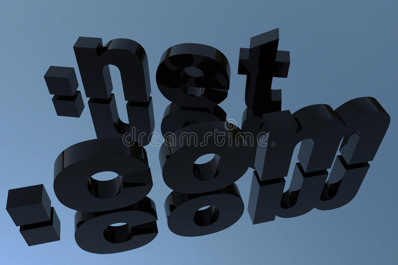 Download Com and net domains stock illustration. Image of ideas - 11656939